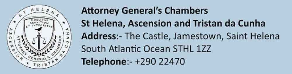Legislation Of St Helena Ascension Tristan Da Cunha St Helena