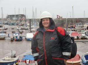Going onboard a fishing boat to conduct a survey in Bridlington