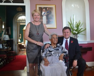 Ma Flo with Governor and Mrs Capes