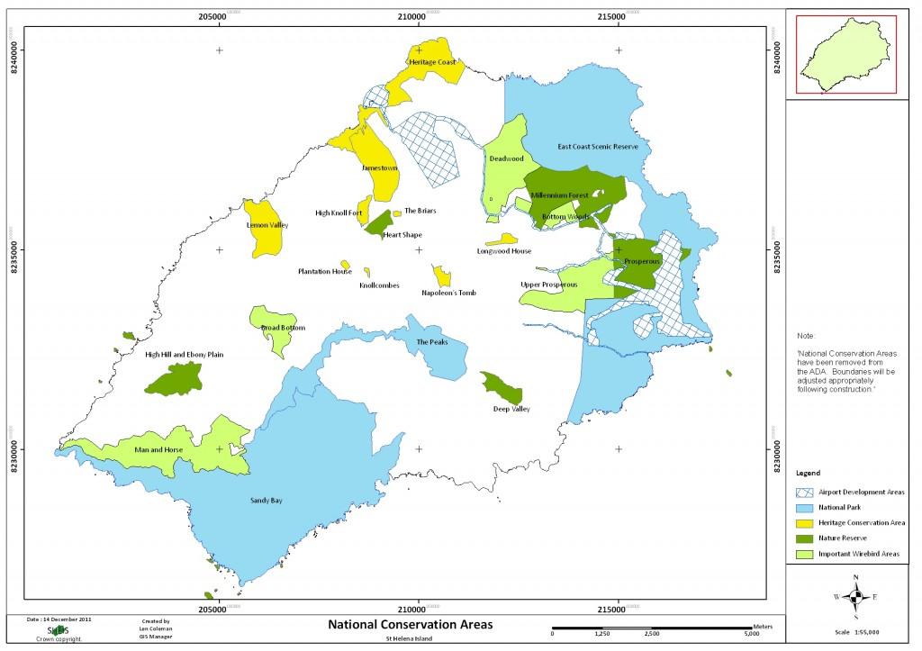 NCAs map