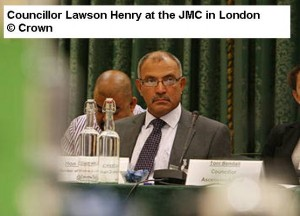 Councillor Henry at the JMC in London