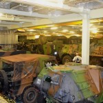 Army Vehicles in Storage Deck