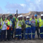 Commonwealth Queen's Baton at St Helena Airport Site, Prosperous Bay Plain
