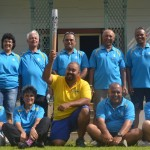 National Amatuer Sports Association St Helena with Commonwealth Queen's Baton