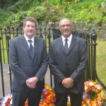 Acting Governor Sean Burns, Councillor Lawson Henry