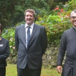 Father Dale Bowers, Acting Governor Sean Burns, Susan O'Bey