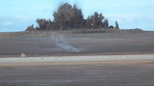 Final Blast with Runway in foreground - 20 Mar 2015