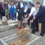 Prince Andrew School Students Burying the Time Capsule