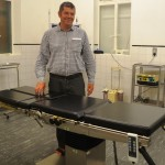 Dr Atilla with one of two new theatre tables