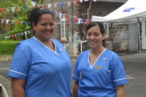 Nurses in new uniforms