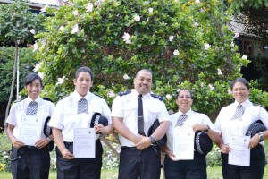 L to R - Constables Benjamin and John, Inspector Thomas, Constables Thomas and Newman