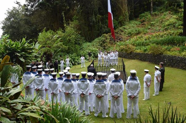 HMS Lancaster - Ceremony at Tomb