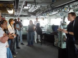 Local Media at HMS Lancaster Bridge