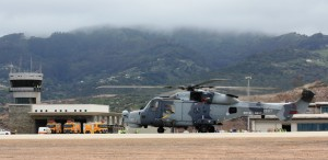 Wildcat - First Rotary Aircraft to land at St Helena Airport - 14 October 2015
