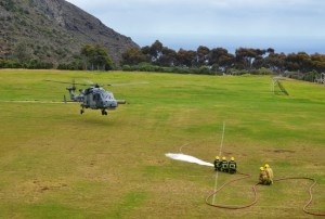 Wildcat Helicopter Lands at Francis Plain