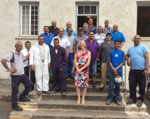 Governor Phillips with Public Works Team